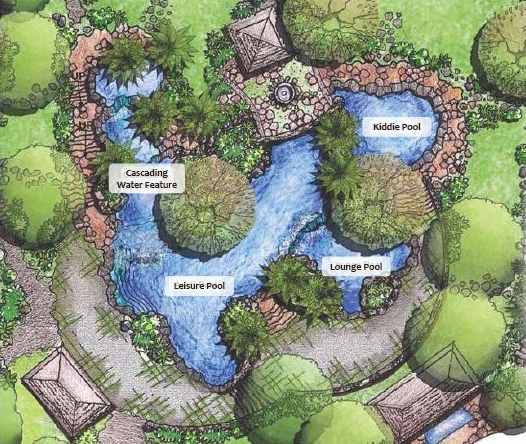 Kasa luntian natural living spaces an ayala land alveo for Swimming pool site plan