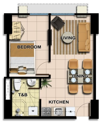 Typical 1BR Unit Layout