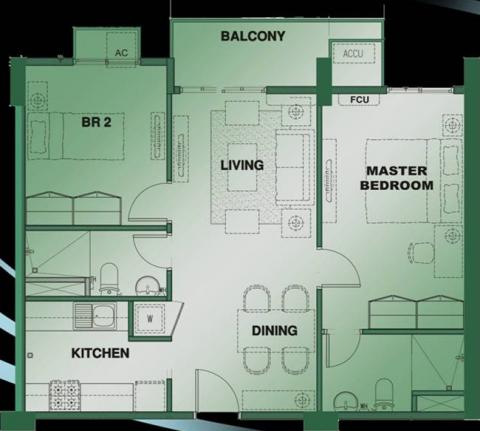 2-Bedroom Unit Floor Plan