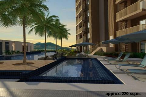 Pool Deck Perspective Rendering