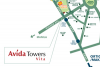 Avida Towers Vita in Vertis North location and vicinity map
